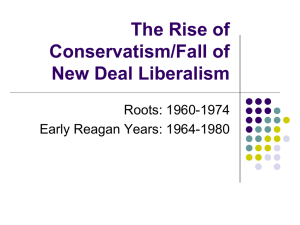 The Rise of Conservatism Lecture