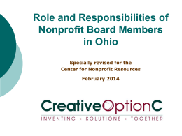 Role and Responsibilities of Nonprofit Board Members in Ohio