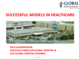 Ravindra Karanjekar - Successful Models in Healthcare