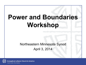Power and Boundaries Power Point