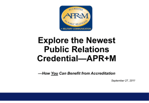 Explore APR+M - Accreditation in Public Relations