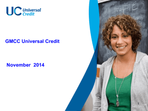 Universal Credit - Manchester Community Central