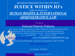 IALC Presentation - Flaherty Law Group