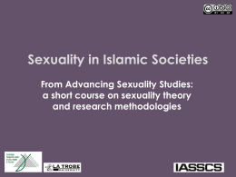 Sexuality in Islamic societies