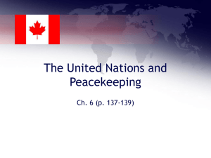 The United Nations and Peacekeeping