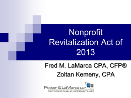 Non-Profit Revitalization Act (2010 version) -good
