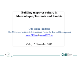 Building taxpayer culture in Mozambique, Tanzania and Zambia