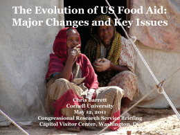 The Evolution of US Food Aid