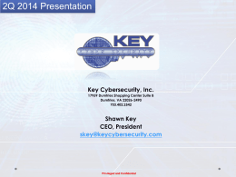 Capabilities - Key CyberSecurity, Inc.