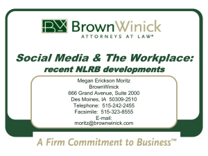 Social Media & The Workplace: recent NLRB