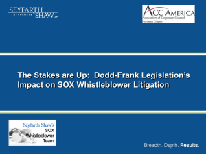 THE DODD-FRANK ACT: What Employers Must Know – and Do – to