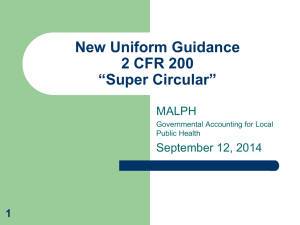 MALPH Super Circular Presentation - Michigan Association for Local