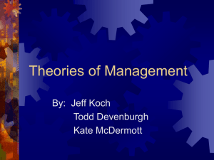 Theories of Management: MBO and Path-Goal