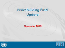 November 2013 PBF Donors` Briefing