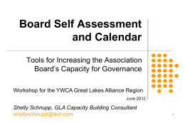 Board Self Assessment and Calendar