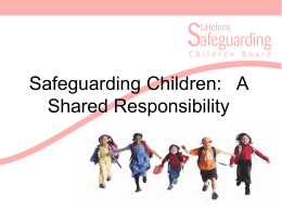 A Shared Responsibility (September 2014) Presentation