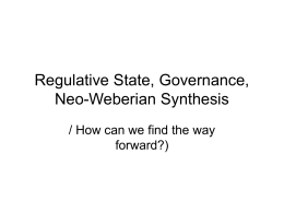 Regulative State, Governance, Neo