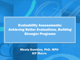 Evaluability assessment