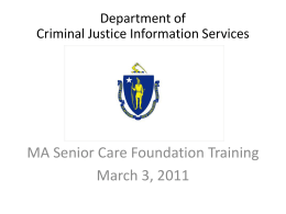 DCJIS_CORI_Training_Mass_Senior_Care_Foundation_3.3.11