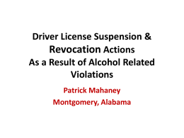 View Driver License Suspension & Revocation Actions Powerpoint