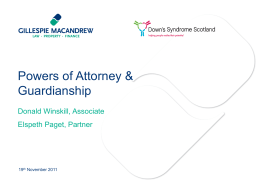 An Introduction to Power of Attorney and Guardianship