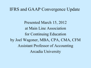 IFRS and GAAP Convergence