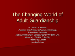 Adult Guardianship and Substitute Decision