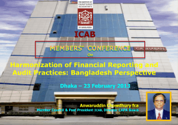 harmonization of financial reporting and audit practices