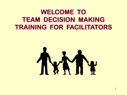 Team Decision Making for Facilitators: Training Day 1