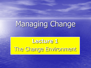 MC -Chapter 1 Managing Change