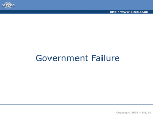Government Failure - BSAK Business & Economics