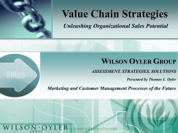 Value Chain Strategies