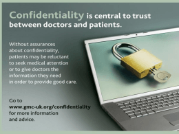 Confidentiality PowerPoint Presentation