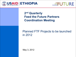 USAID Presentation of Planned FTF Projects