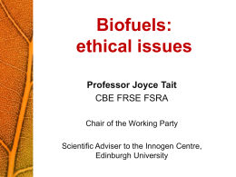 Presentation slides - Nuffield Bioethics