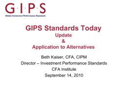 the gips standards for hedge funds