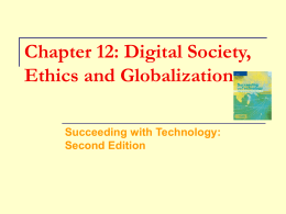 Chapter 12: Digital Society, Ethics and Globalization