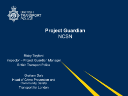 TFL and BTP - Project Guardian
