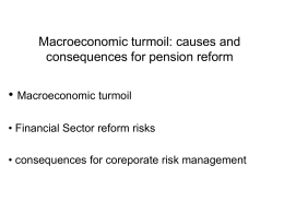 Macroeconomic turmoil: causes and consequences for