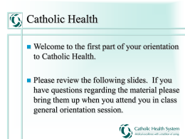 Risk Management - Catholic Health System
