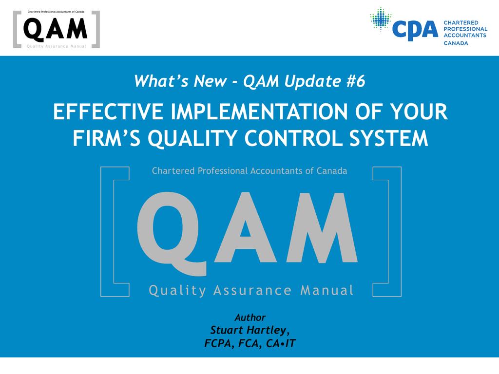 QAM Update 6 PPT