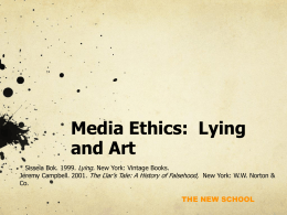 Media Ethics: Lecture #5