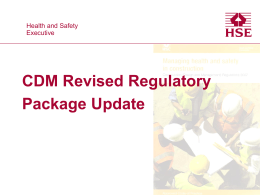 CDM Revised Regulatory Package Update