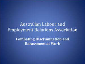 Armidale Law Society CLE - Australian Labour and Employment