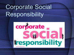 3.3 Corporate Social Responsibility