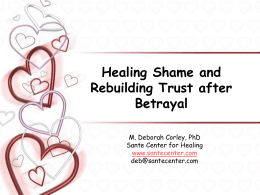 A Workshop Healing Shame after Betrayal