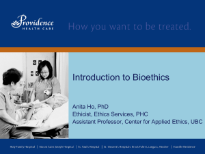 Introduction to Bioethics (ppt lecture)