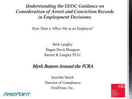 Understanding the EEOC Guidance on Consideration of Arrest and