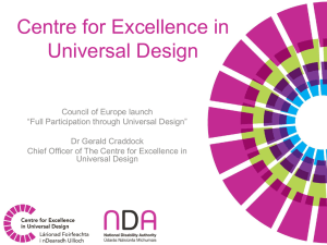 Ger Craddock 1  - Centre for Excellence in Universal Design
