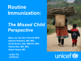Routine Immunization: The Fifth Child Perspective